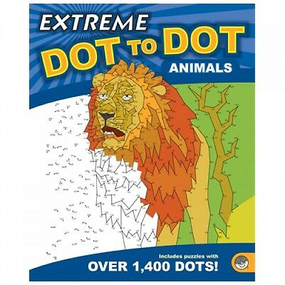 Extreme Dot to Dot Animals Puzzle Book For Adults & Children 1400+ dots (B097)