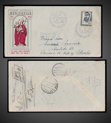 1954 NETHERLANDS FDC 16 JUNE 1200 Th. ANNIVERSARY OF THE DEATH OF SAINT BONIFACE