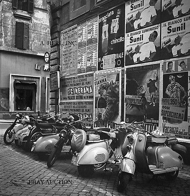 Vespa scooter - British collection 1960s mods photograph - motorcycle photo