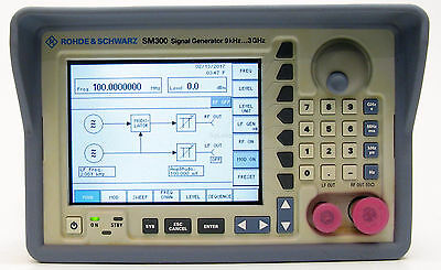 R&S Rohde & Schwarz SM300 Vector Signal Generator 3 GHz AM, FM, Pulse 342 hours