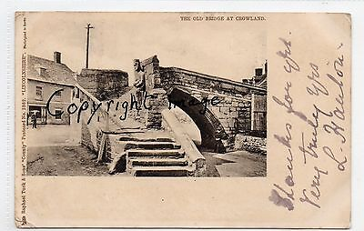 Crowland, The Old Bridge, Lincolnshire.  pu.1902  R.Tuck 2362. County series