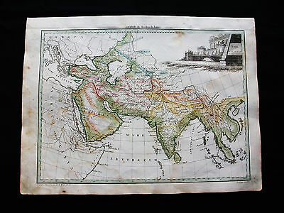 1810/12 M.BRUN & LAPIE - Orig map of SOUTH ASIA, ARABIA, INDIA, MIDDLE EAST IRAQ