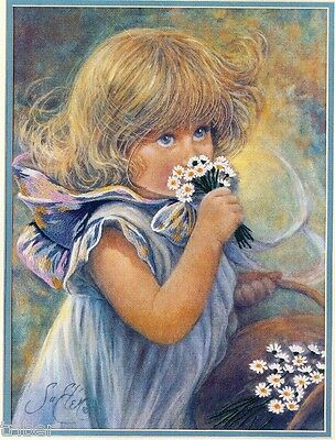 Crewel Embroidery KIT Dimensions Susans Daisies # 51021 Young Girl OPENED Unused