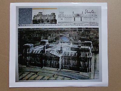 CHRISTO (°1935) / WRAPPED REICHSTAG / ARTPRINT / SIGNED / 21x24cm