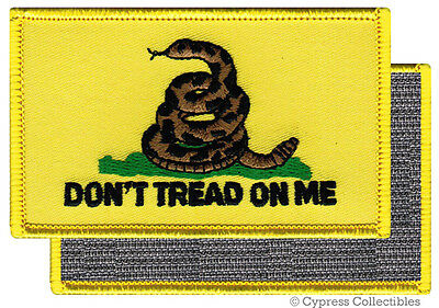 DON'T TREAD ON ME GADSDEN FLAG MORALE PATCH YELLOW NEW w/ VELCRO® Brand Fastener