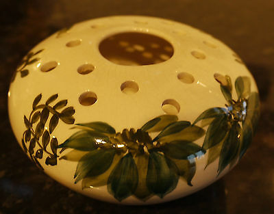 Hand Painted Jersey Pottery Posy Flower Frog Bowl c1960's 70's