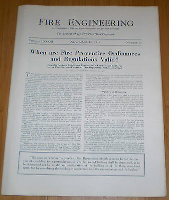 Fire Engineering Nov 12, 1930 fire prevention measures,