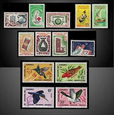 Comoros Islands 1963 -1967 Lot St.54 -62 , 69-72