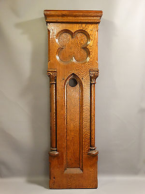 LG Antique VICTORIAN GOTHIC CHURCH Architectural SALVAGE Old CARVED Wood REMNANT