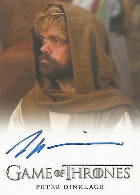 """Game of Thrones Season 5 - Peter Dinklage """"Tyrion Lannister"""" Autograph Card"""