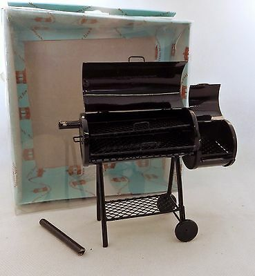 Damaged Dolls House Miniature Garden Furniture Deluxe BBQ Barbeque Smoker Grill