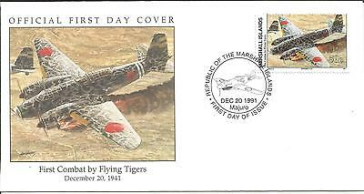 Arcade 99p Marshall Is 1991 First Combat by Flying Tigers 1941 FDC