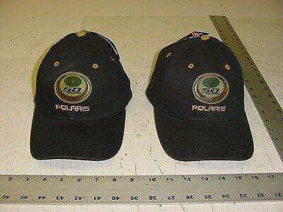 2 New POLARIS Ball Cap Hat 50th Anniversary 1954 - 2004 Snowmobile ATV vintage