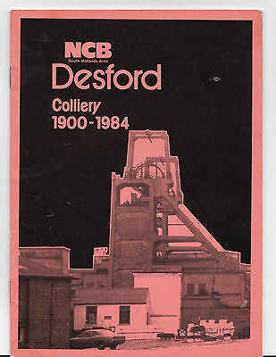 Colliery Mining Booklet ## Desford Pit # 1900 1984 Bagworth Leicestershire Area