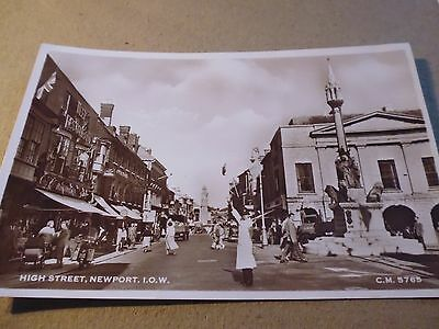 Vintage Postcard, High Street, Newport, Isle Of Wight, Traffic Policeman, Photo