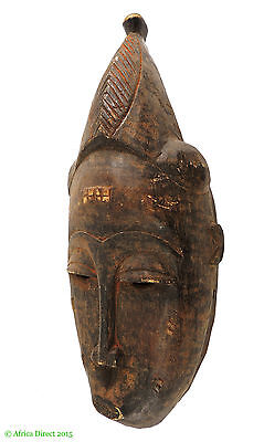 Baule Portrait Mask Cote d'Ivoire African Art SALE WAS $190.00