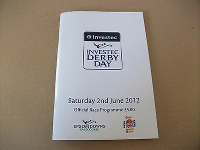 Epsom 2012 Derby Race Card  - Camelot Wins The Derby For Aiden O'brien