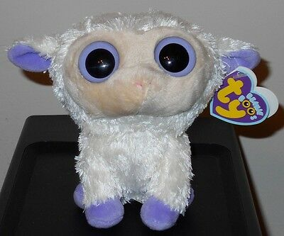 """NM* Ty Beanie Boos ~ CLOVER the 6"""" Lamb ~ NEAR MINT with MINT TAGS"""