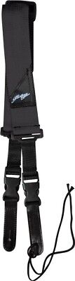 SoundLAB Nylon Guitar Strap With Quick Release and Leather Ends (Colour Black)