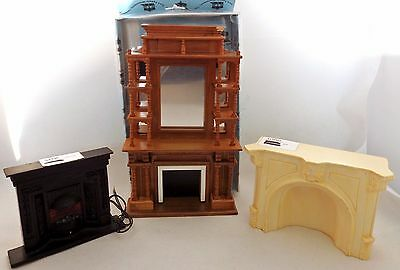 Damaged Ex Display 3 Dolls House Miniature Fireplaces Mixed Lot 120