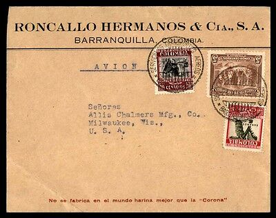 Barranquilla Colombia commercial advertising cover to Milwaukee WI USA