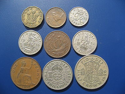 George VI Year set 1950, including the rare 1950 Penny.