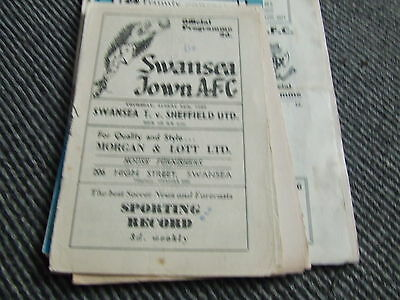 Swansea Town V Sheffield United 1950-1 ( See Details )