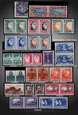 1910 - 1945 South Africa Small Lot Mint Nh & H + Used