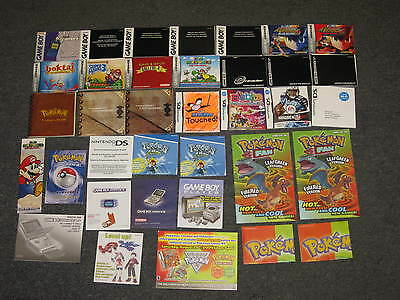 LOT of 27+ Gameboy Advance Nintendo DS Miscellaneous INSTRUCTION MANUALS ONLY