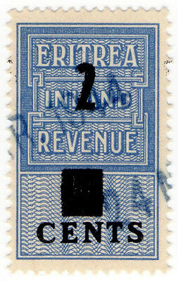(I.B) BOIC (Eritrea) Revenue : Duty Stamp 2c on 4c OP
