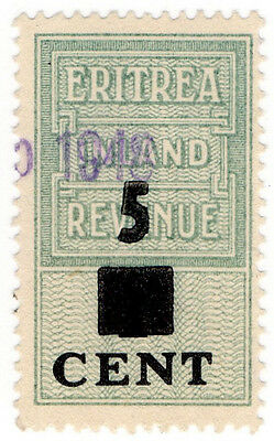 (I.B) BOIC (Eritrea) Revenue : Duty Stamp 5c on 1c OP