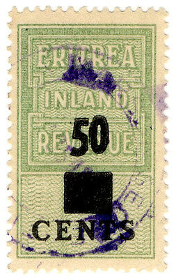 (I.B) BOIC (Eritrea) Revenue : Duty Stamp 50c on 2c OP