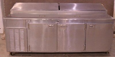"""Marsal & Sons DR87 87"""" Sandwich Unit Refrigerated Pizza Salad Prep Table 3-Door"""