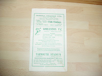 Gorleston v Chelmsford Res Eastern Counties Lge 1957/8