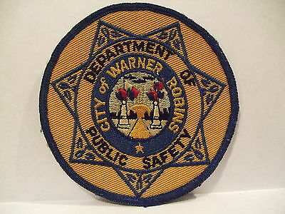 police patch  CITY OF WARNER ROBINS PUBLIC SAFETY GEORGIA
