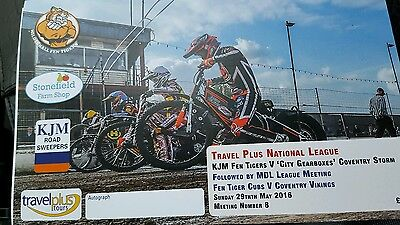 Mildenhall Fen Tigers v Coventry Storm National League Speedway 29/5/2016
