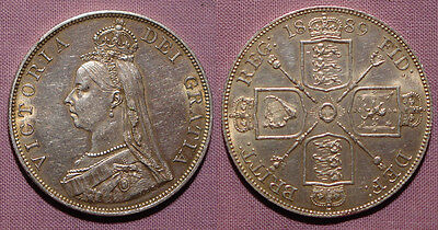 1889 QUEEN VICTORIA DOUBLE-FLORIN - High Grade