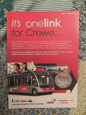 D & G Bus Crewe Cheshire route one1ink Crewe Bus Timetable 2014