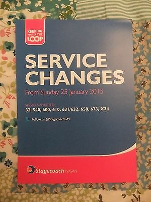 Stagecoach Bus Wigan Greater Manchester bus service changes Bus Timetable 2015