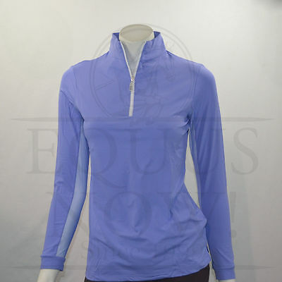 Tailored Sportsman IceFil Zip Top Long Sleeve Sun Shirt - Periwinkle