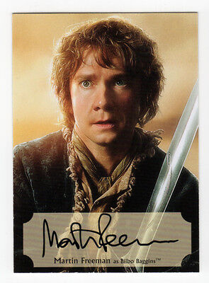 The Hobbit : The Desolation of Smaug - Martin Freeman Poster Auto Card 59/75