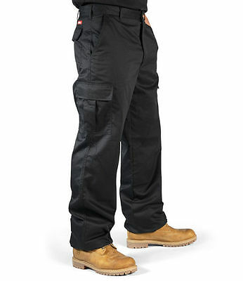 New Uneek Uc902 Mens Work Trousers - Black - Size 30R - Vgc