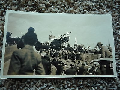 1926 Stanley Woods Motor Cycle Isle of Man TT IOM Sepia Postcard Size Photo No 5