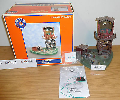 Lionel 6-24104 Hobo Camp Tower Musical Sounds Operating Train Accessory O Gauge