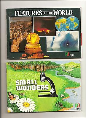 BROOKE BOND CARD ALBUMS SMALL WONDERS (full)  AND FEATURES OF THE WORLD (empty)