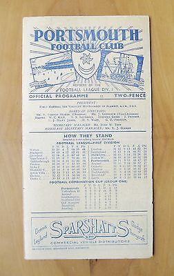PORTSMOUTH v MIDDLESBROUGH 1946/1947 *Excellent Condition Football Programme*