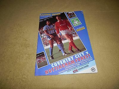 Coventry City v Nottingham Forest - Littlewoods League Cup Semi-Final in 1990