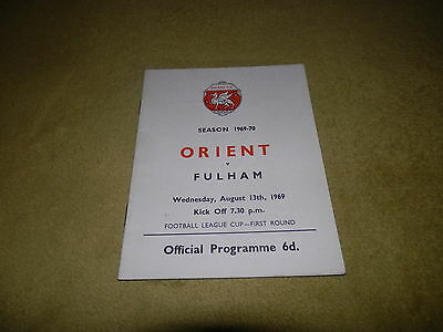 Leyton Orient v Fulham - 1969 League Cup 1st round at Brisbane Road