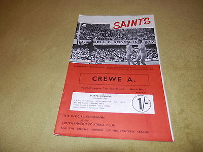 Southampton v Crewe Alexandra - 1968 League Cup 2nd round at The Dell