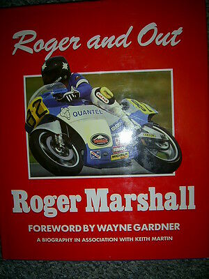 """Roger Marshall """"Roger and Out"""" Hardback Book RG500 Barry Sheene"""